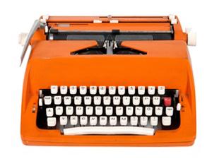 Christmas presents typewriter